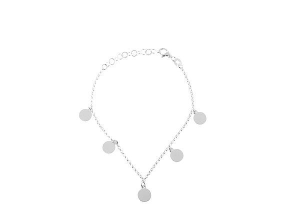 Bracciale 5 cerchi argento