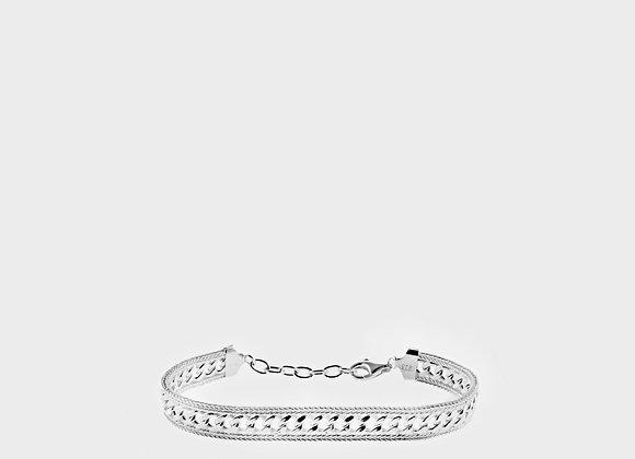 Bracciale cinturino argento