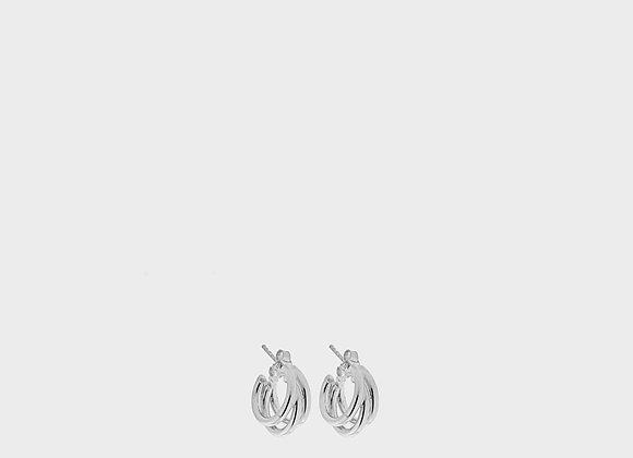 Orecchini triplo saldato piccolo argento