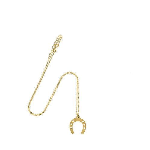 Collana ferro di cavallo oro