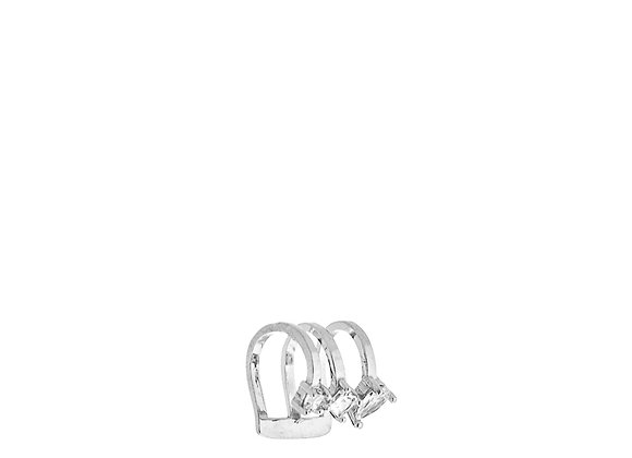 Ear cuff con 3 zirconi argento