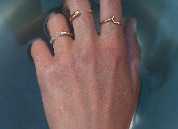 Anello semicerchio oro