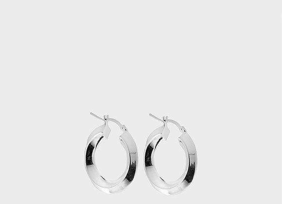 Orecchini cerchi quadrangolari argento