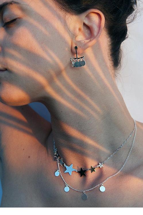 Collana stelle crescenti argento