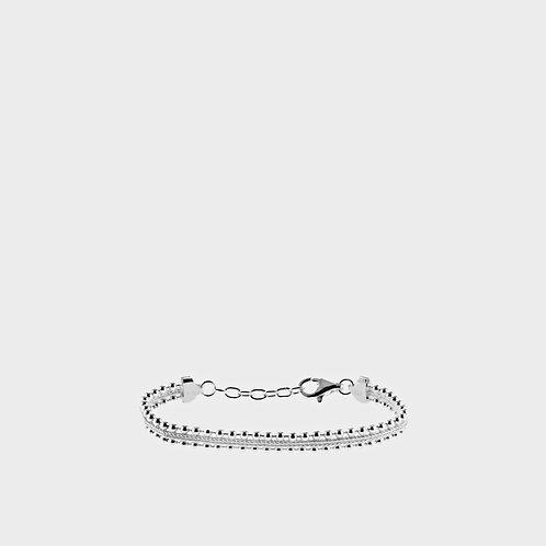 Bracciale doppio filo di sfere argento