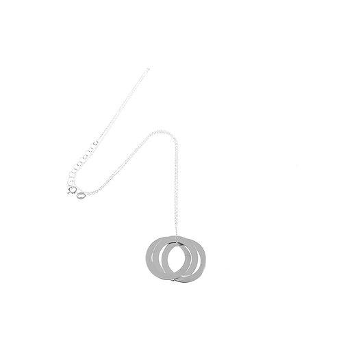 Collana 3 cerchi intrecciati argento