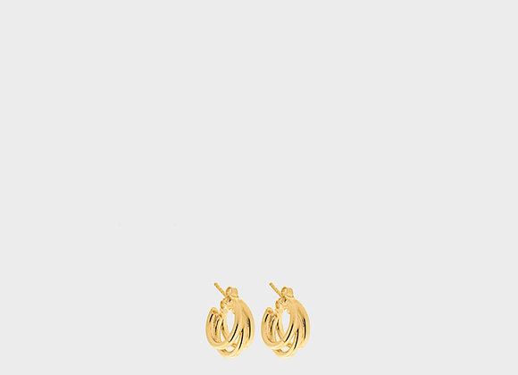 Orecchini Fresia autunno piccolo oro