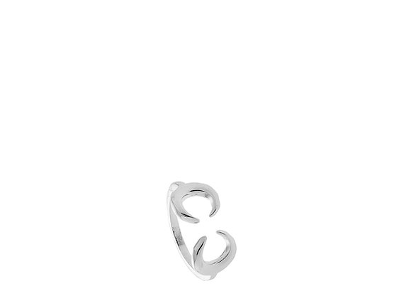 Anello argento 2 mezze lune