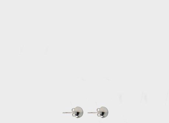 Orecchini Peonia inverno argento