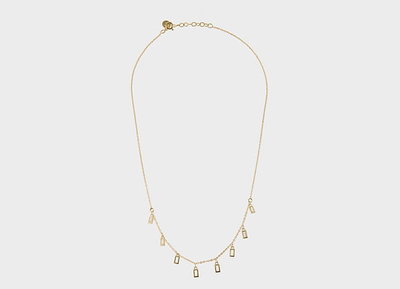 Collana Grace rettangoli bianchi oro