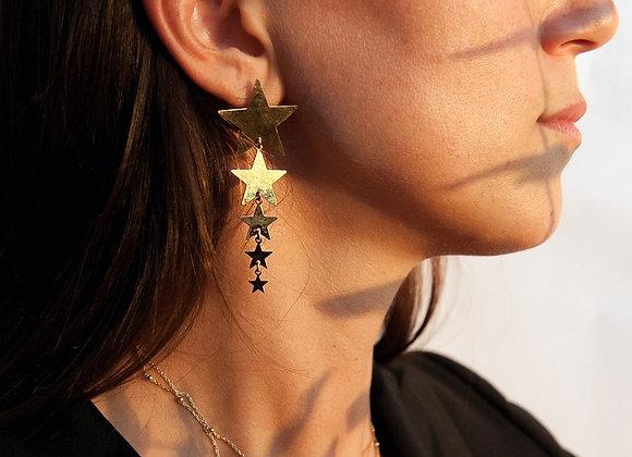 Ear cuff con 3 zirconi oro