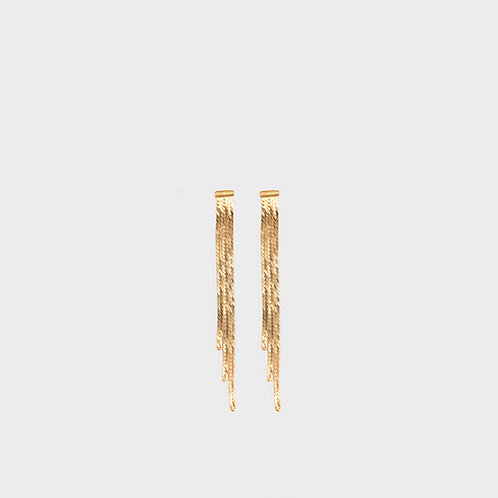Orecchini 3 fasce lisce oro