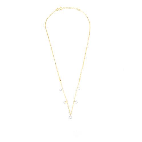 Collana 5 zirconi oro