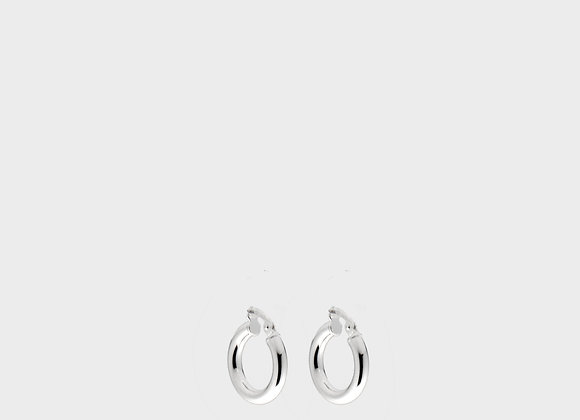Orecchini tubo piccoli argento