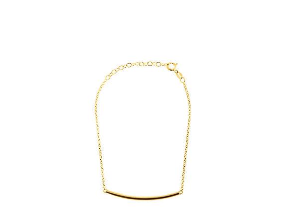 Bracciale barra curva oro