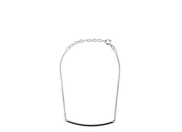 Bracciale barra curva argento