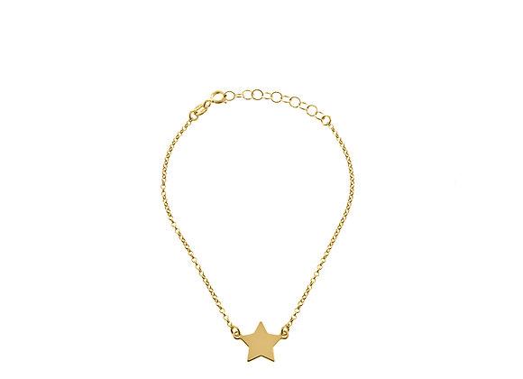 Bracciale stella oro
