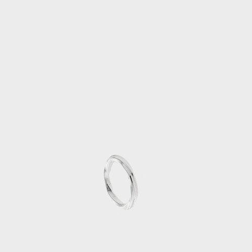 Anello zigrinato argento