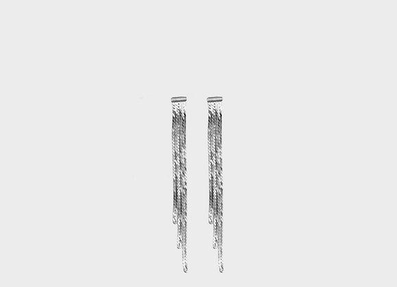 Orecchini 3 fasce lisce argento