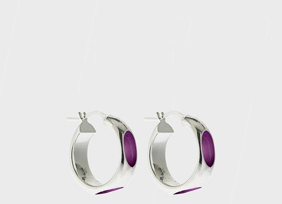 Cerchio forato lilas argento grande