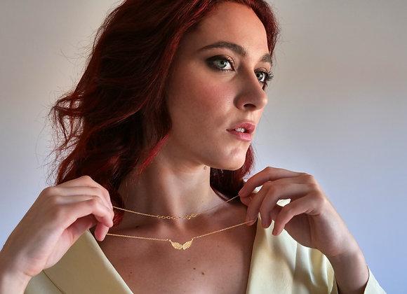 Collana ali oro