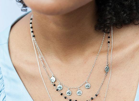 Collana Amelie e croce argento