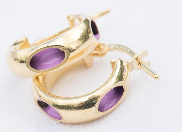 cerchio forato lilas oro piccolo