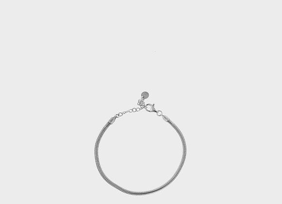 Bracciale corda liscia argento