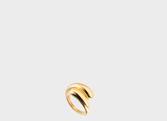 Anello spesso doppio oro