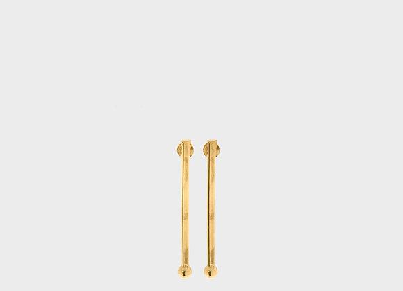 Orecchini barra lunga oro