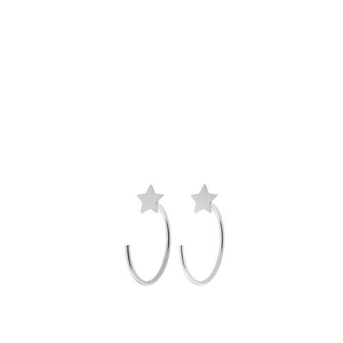 Orecchini semicerchi con stella saldata argento