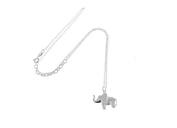 Collana elefante argento
