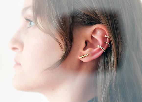 Ear cuff doppio lavorato oro
