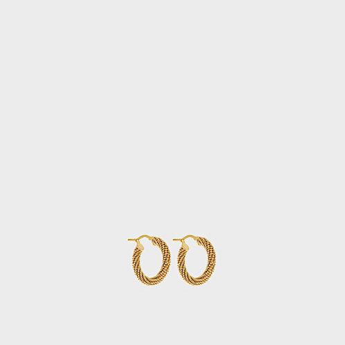 Orecchini zigrinati spessi oro