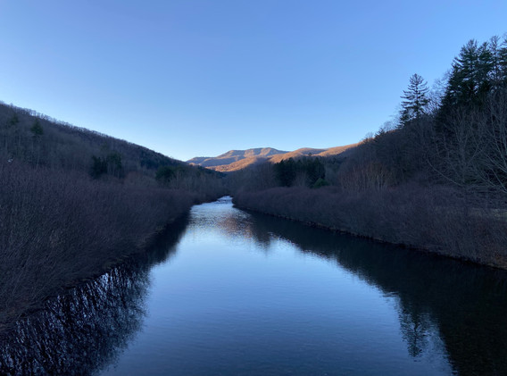 Sunrise at West Fork of the Pigeon in January - Private