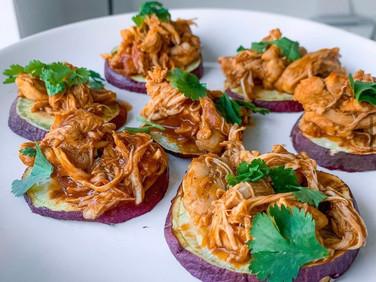 Sweet Potato BBQ Chicken Sliders 🔥