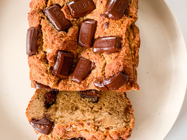 Healthy Banana Bread, Vegan Option