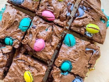 Flourless Easter Brownies