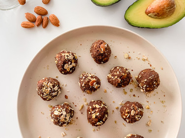 Chocolate Almond Avocado Oat Bites