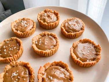 Vegan Salted Caramel Tarts