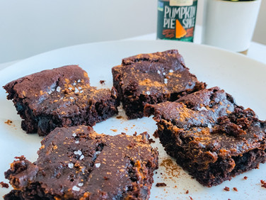 Healthy Pumpkin Brownies 🎃🍫