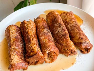 French Toast Cinnamon Roll Ups