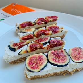 Vegan Lemon Fig Cheesecake