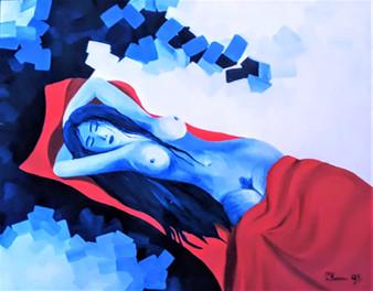 Blue women 50 x 40