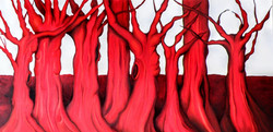 Red trees 100 x 45
