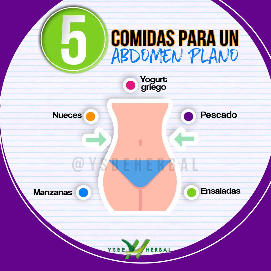 comidas para abdomen plano