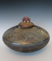 CARVED BERRY VESSEL