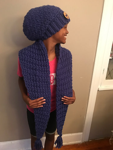 The Navaeh Slouchy  and Triangle Scarf