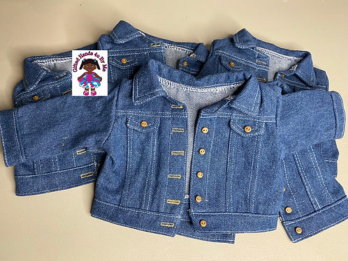 "18"" jeans jacket for doll *** 2 jackets***"