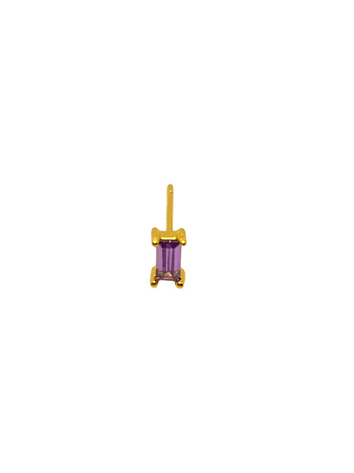 Evi gold lilac earring